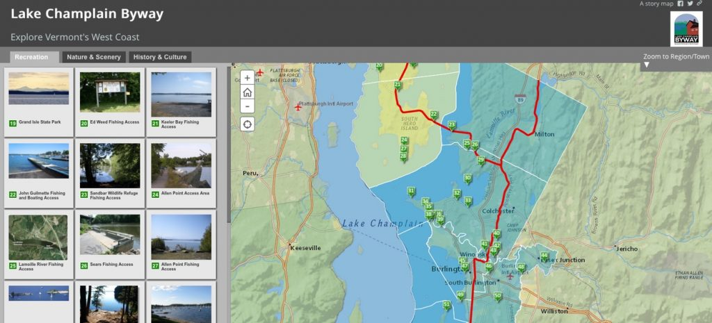 Lake Champlain Byway Story Map