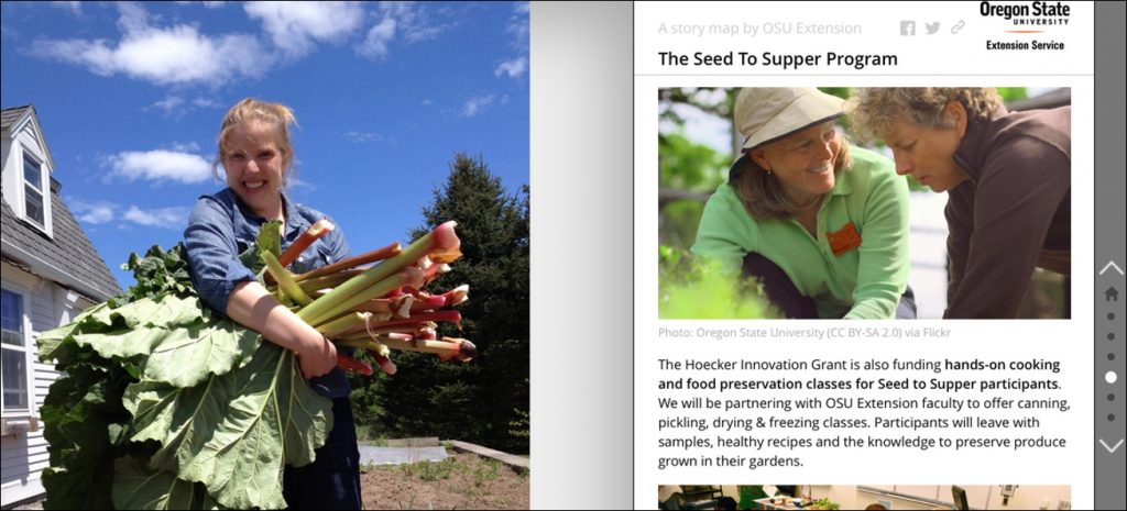Oregon State University Extension Seeds to Supper Story Map