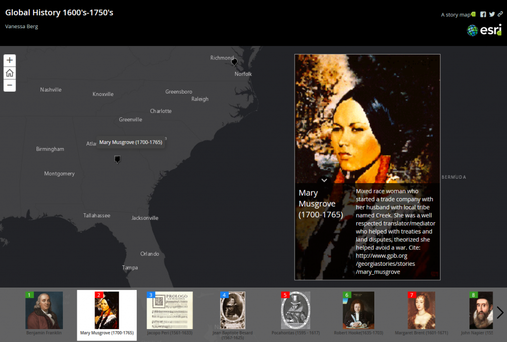 Another Enlightenment Story Map example