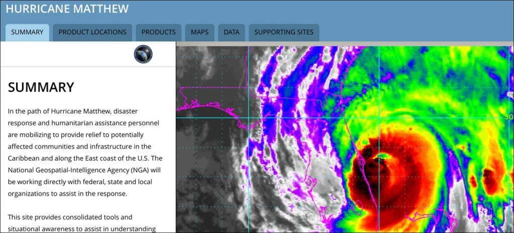 Hurricane Matthew Maps | National Geospatial Intelligence Agency