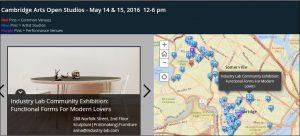 Cambridge Art Open Studios - Story Map- May 2016