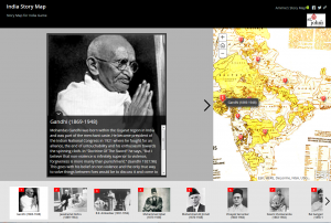 Exploring mapping and spatial relationships in the humanities - India example