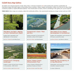UConn Extension: telling Stories with Maps- CLEAR Story Map Gallery
