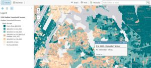 Exploring mapping and spatial relationships in the humanities - income map example