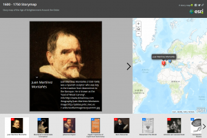 Exploring mapping and spatial relationships in the humanities - age of enlightenment example