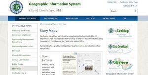 Cambridge GIS Story Maps