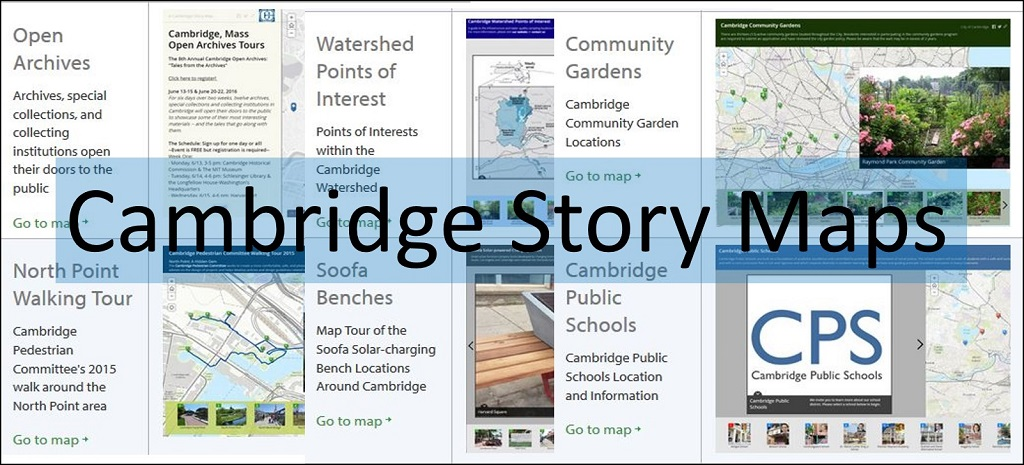 Cambridge, Massachusetts Story Maps Gallery