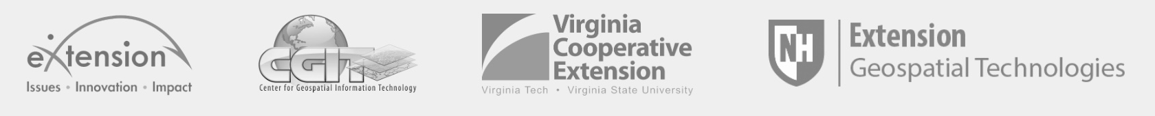 National Extension Web-mapping Tool logos