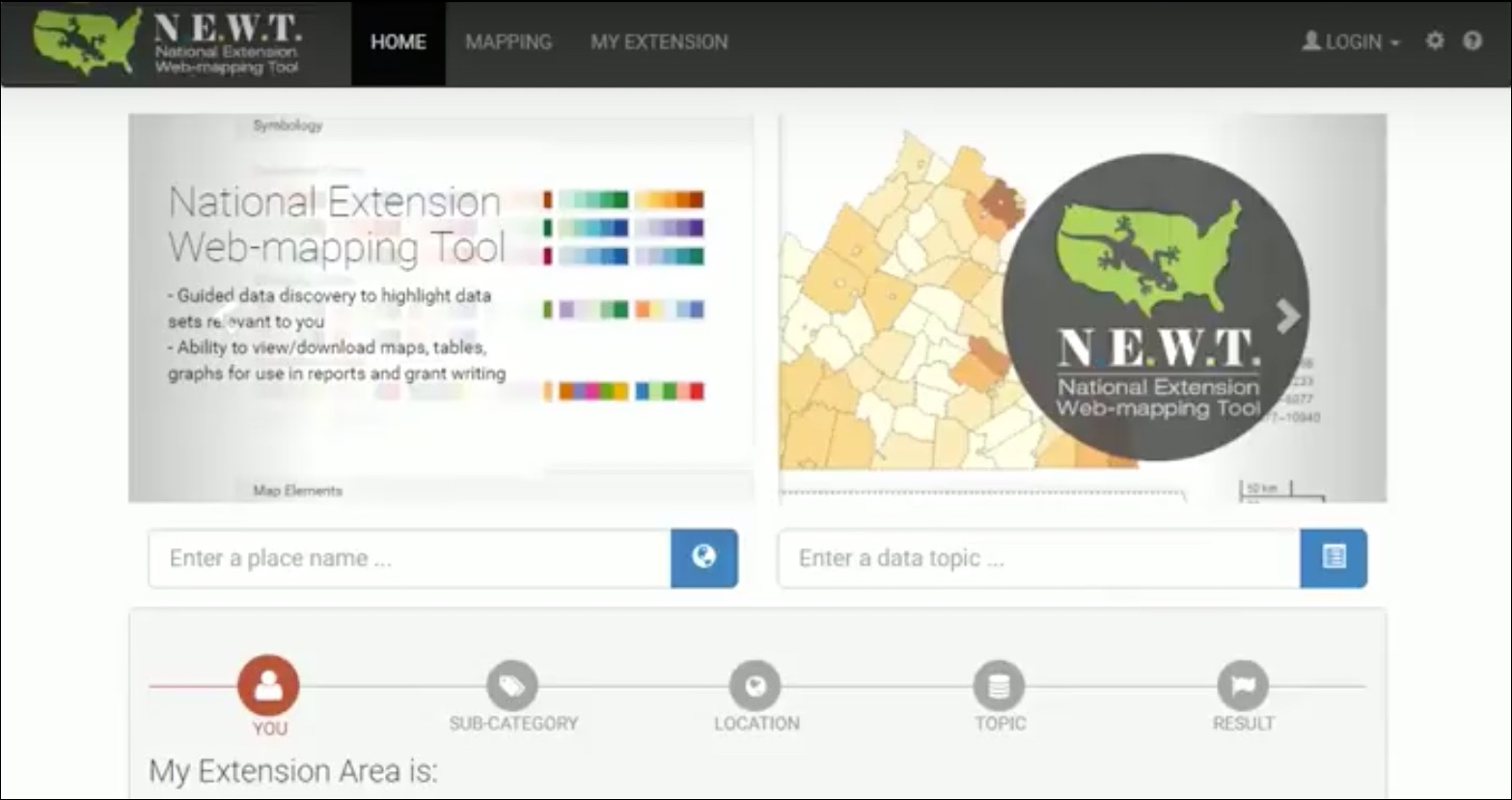 National Extension Web-mapping Tool
