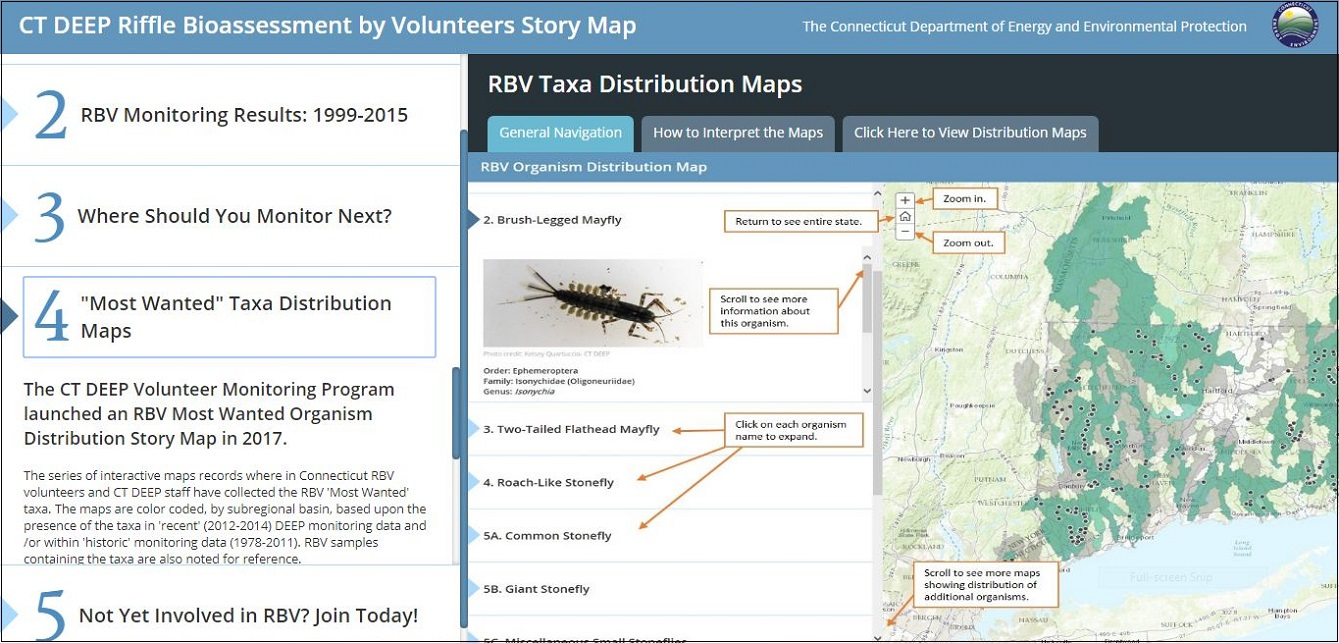 Connecticut's Riffle Bioassessment by Volunteers (RBV) Story Map