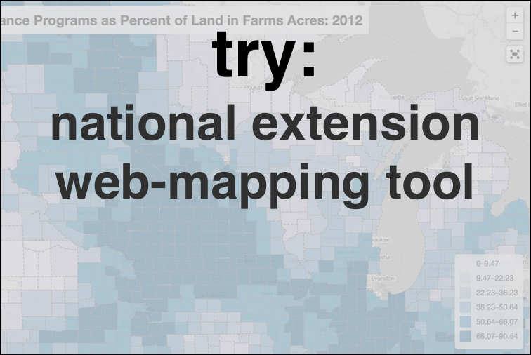 Try: national extension web-mapping tool