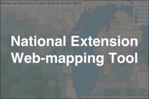 National Extension Web-mapping Tool roll over