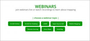 WEBINARS: join webinars live or watch recordings to learn about mapping